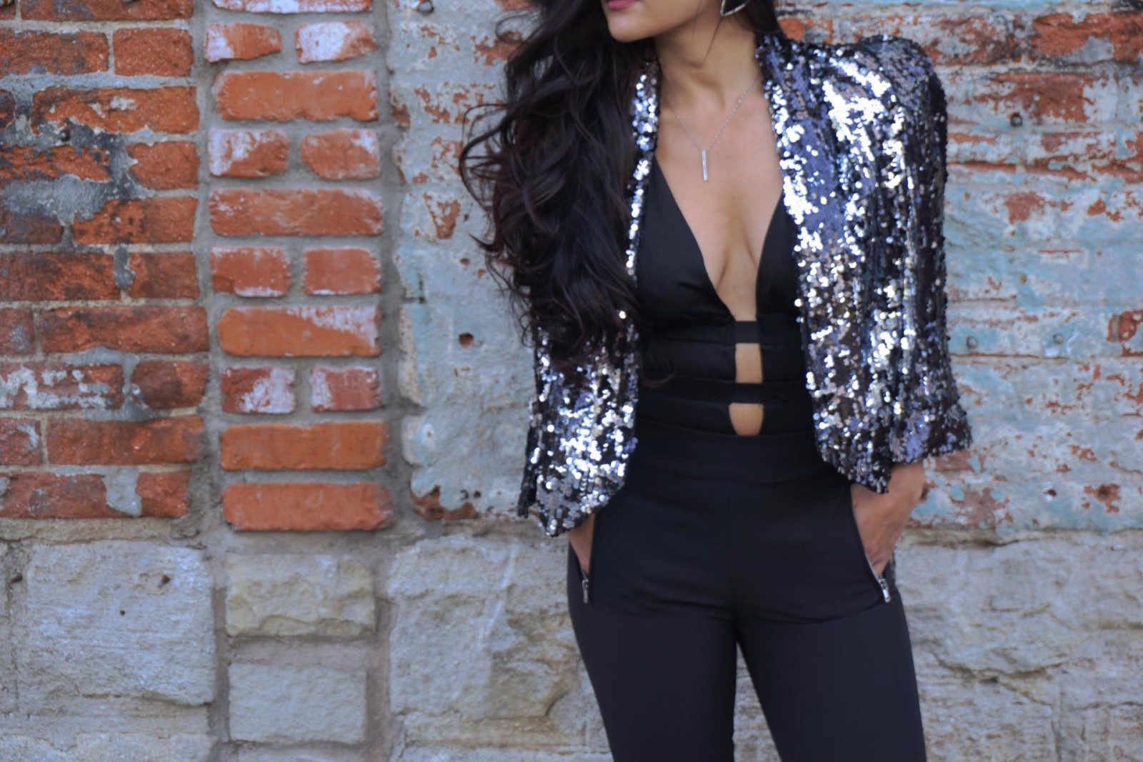 Sequins Cape Blazer To The Rescue