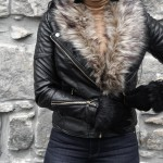 Motto Jacket, HM, Faux Fur, Aldo Boots, Thigh High