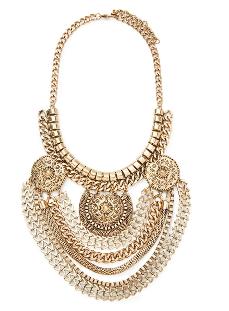 Statement Necklace, Forever21 Necklace, gold necklace