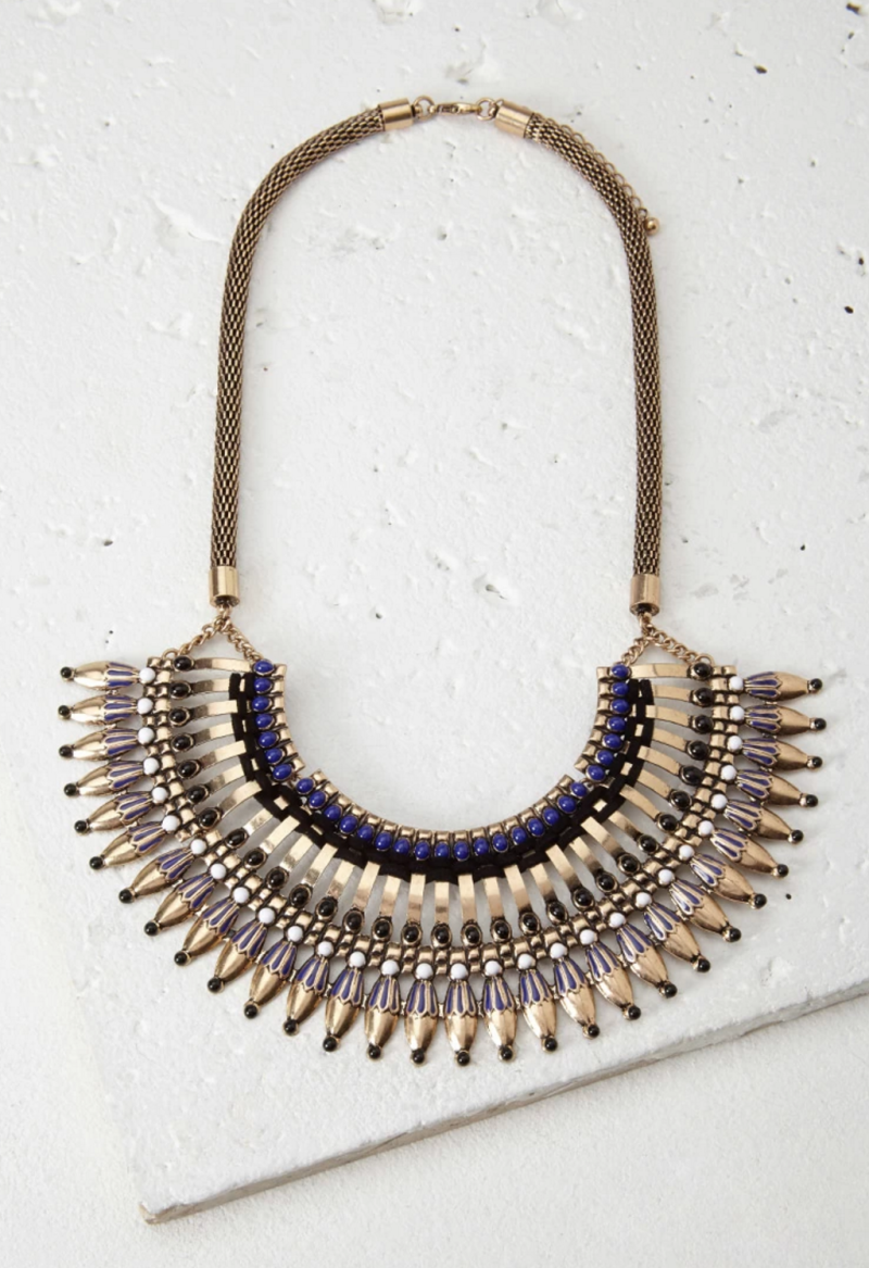 statement necklace, gold necklace, forever21 necklace