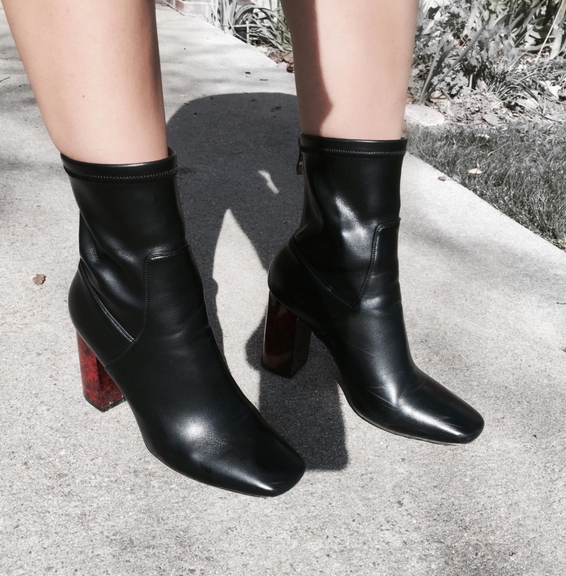 Naomi Block Heel Ankle Boots, Simmie Shoes, Boots, Black Boots