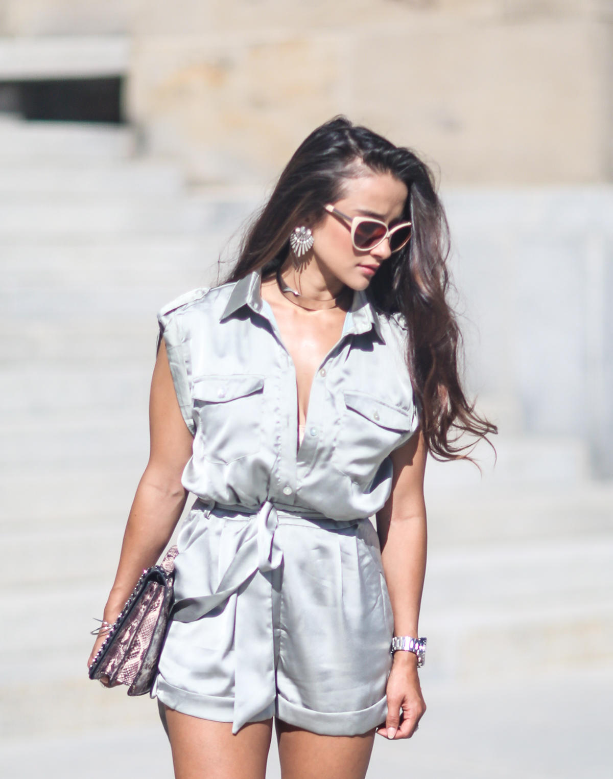 Silk Romper, Silk playsuit, silk trend, silk fashion, The Boutique in Miami, Fashion Blogger, Style Blogger, MissGuided Plex